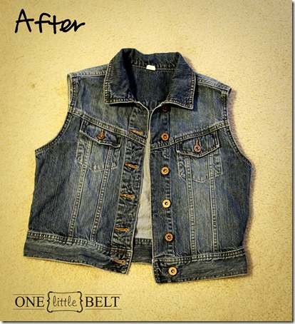 ONE little MOMMA: How To make A Denim Vest- So Easy!